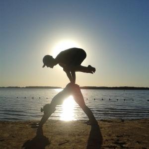 Brazil Brasil yoga ali polly yoga frog