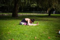 Paschimotanasana - Forward bend yoga Posture asana park pontypridd