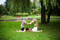 Salambasana Love Yoga pose asana park fun Pontypridd