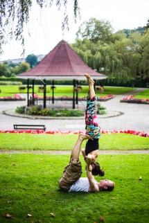 Yoga frog fun park yoga asana partner
