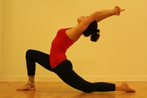 Crescent moon anjaneyasana
