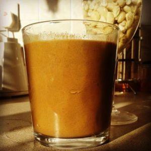 Raw vegan smoothie healthy food juice chocolate cacao goji berries