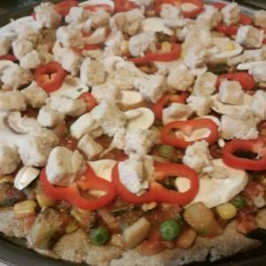 Healhty food gluten free vegan pizza crust healthy food yoga frog