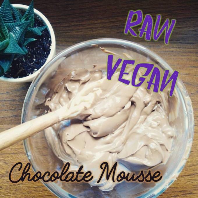 raw vegan gluten free chocolate mousse delicious nuts avocado