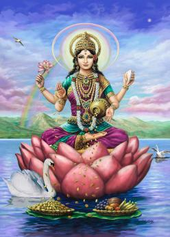 lakshmi-goddess-of-fortune-vishnudas-art